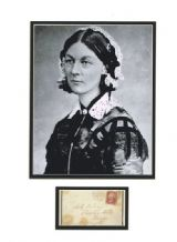 Florence Nightingale Autograph Signed Display